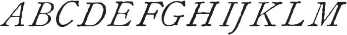 1822 GLC Caslon Pro otf (400) Font UPPERCASE