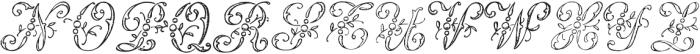 1886 Romantic Initials otf (400) Font UPPERCASE