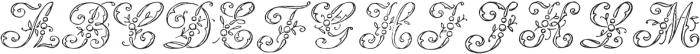 1886 Romantic Initials otf (400) Font LOWERCASE