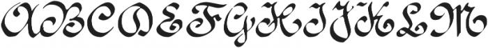 1890 Registers Script otf (400) Font UPPERCASE