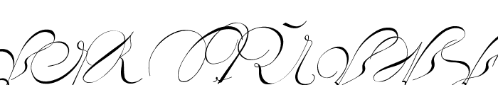 18th Century Initials Font UPPERCASE