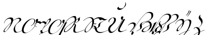 18th Century Kurrent Alternates Font UPPERCASE