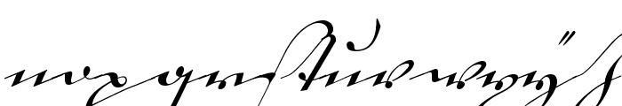 18th Century Kurrent Alternates Font LOWERCASE