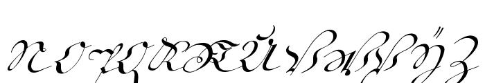 18th Century Kurrent Start Font UPPERCASE