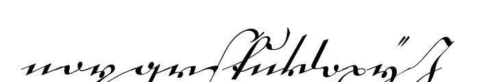 18th Century Kurrent Start Font LOWERCASE