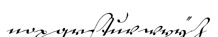 18th Century Kurrent Text Font LOWERCASE