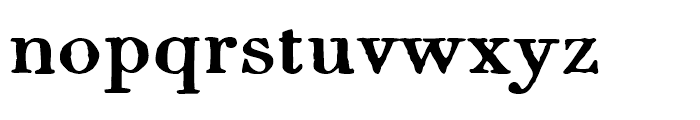 1820 Modern Large Normal Font LOWERCASE