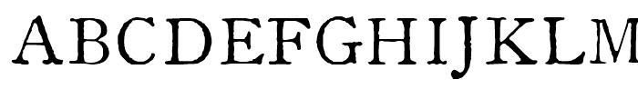 1822 GLC Caslon Normal Font UPPERCASE