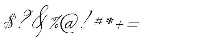 1845 Mistress Italic Font OTHER CHARS