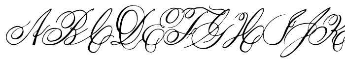 1845 Mistress Italic Font UPPERCASE