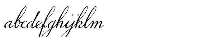 1845 Mistress Italic Font LOWERCASE