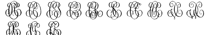 1864 GLC Monogram C - D Font UPPERCASE