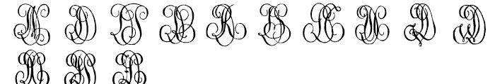 1864 GLC Monogram C - D Font LOWERCASE