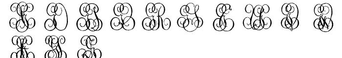 1864 GLC Monogram G - H Font UPPERCASE