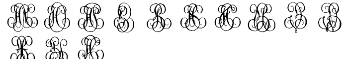 1864 GLC Monogram G - H Font LOWERCASE