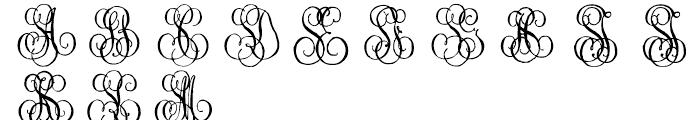 1864 GLC Monogram S - T Font UPPERCASE