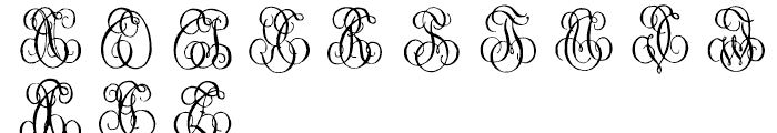 1864 GLC Monogram S - T Font LOWERCASE