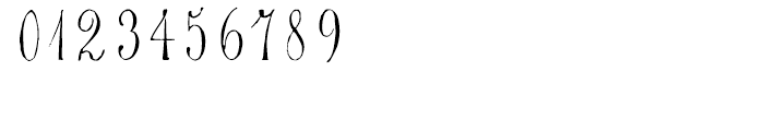 1864 GLC Monogram U - V Font OTHER CHARS