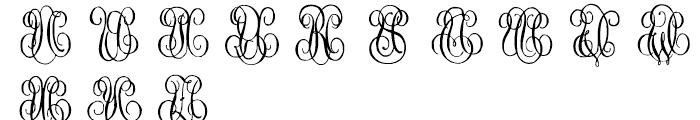 1864 GLC Monogram U - V Font UPPERCASE