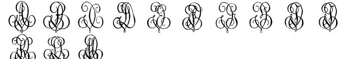 1864 GLC Monogram U - V Font LOWERCASE