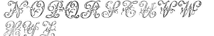 1886 Romantic Initials Font UPPERCASE