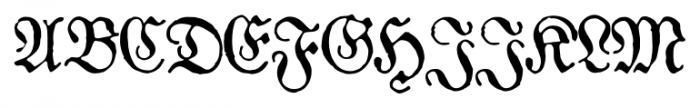1883 Fraktur Normal Font UPPERCASE