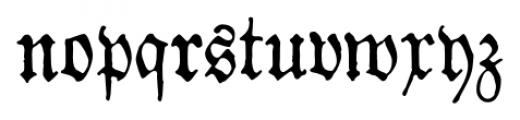 1883 Fraktur Normal Font LOWERCASE