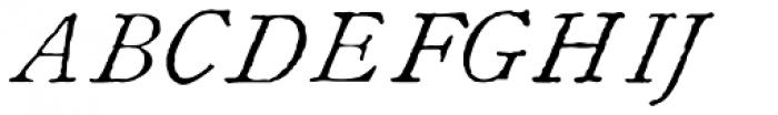 1822 GLC Caslon Italic Font UPPERCASE