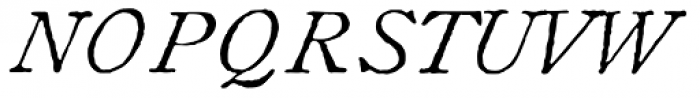 1822 GLC Caslon Pro Italic Font UPPERCASE