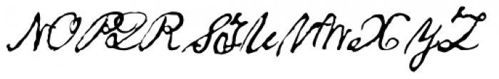 1863 Gettysburg Normal Font UPPERCASE