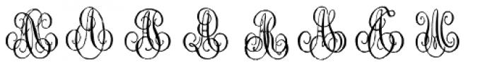 1864 GLC Monogram AB Font UPPERCASE