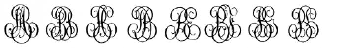 1864 GLC Monogram AB Font LOWERCASE