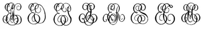 1864 GLC Monogram EF Font UPPERCASE