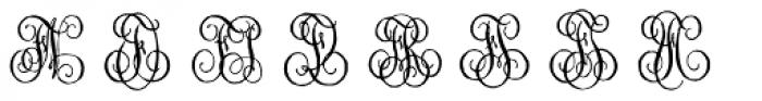 1864 GLC Monogram EF Font LOWERCASE
