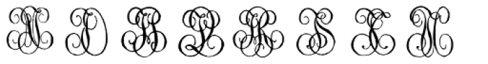 1864 GLC Monogram IJ Font UPPERCASE