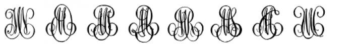 1864 GLC Monogram MN Font UPPERCASE
