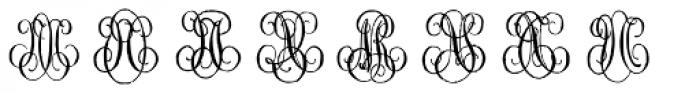 1864 GLC Monogram MN Font LOWERCASE
