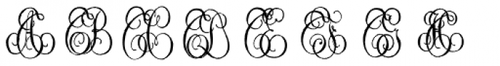 1864 GLC Monogram ST Font LOWERCASE