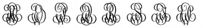 1864 GLC Monogram WX Font UPPERCASE