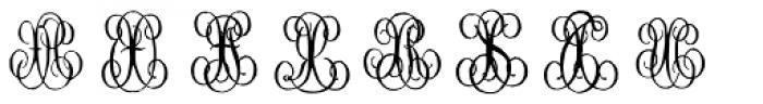 1864 GLC Monogram WX Font LOWERCASE