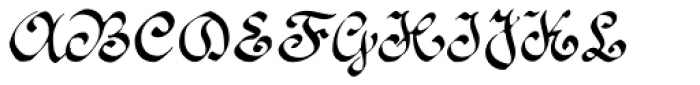 1890 Registers' Script Normal Font UPPERCASE