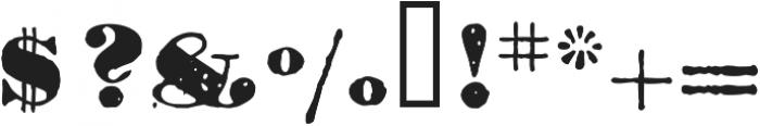1906 Titrage otf (900) Font OTHER CHARS