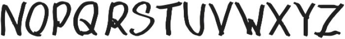 1985 Marker ttf (400) Font UPPERCASE