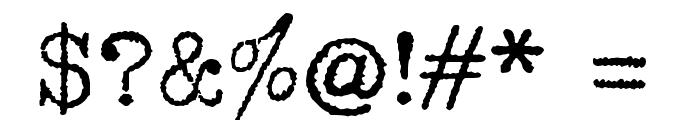 1952 RHEINMETALL Font OTHER CHARS