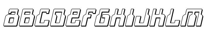 1968 Odyssey 3D Italic Font UPPERCASE