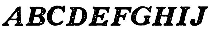 1906 French News Caps BoldItalic Font UPPERCASE