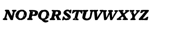 1906 French News Caps BoldItalic Font LOWERCASE