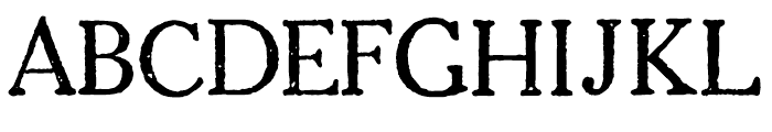 1906 French News Caps Normal Font UPPERCASE