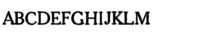 1906 French News Caps Normal Font LOWERCASE