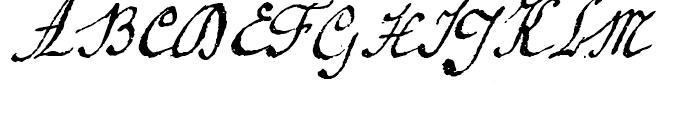 1920 French Script Regular Font UPPERCASE